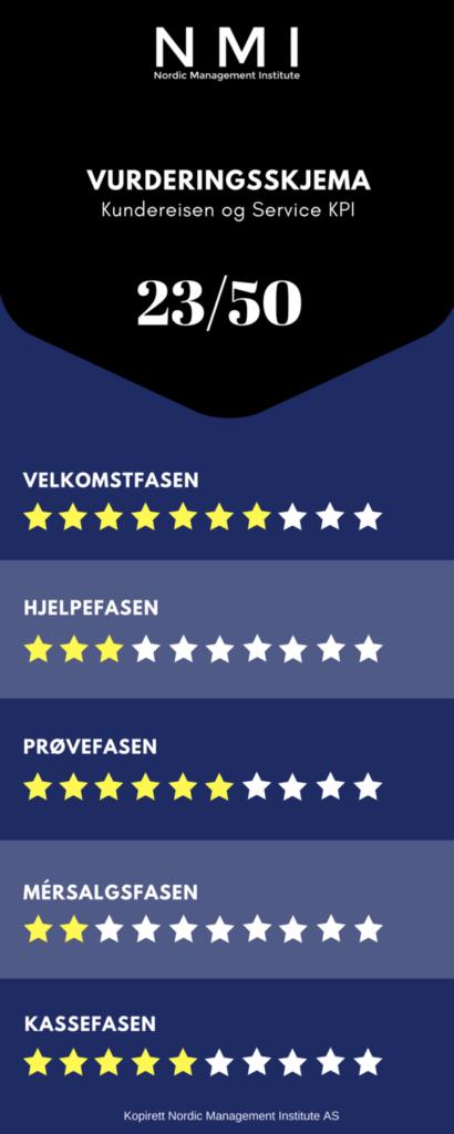 Vurderingsskjema - kundereisen